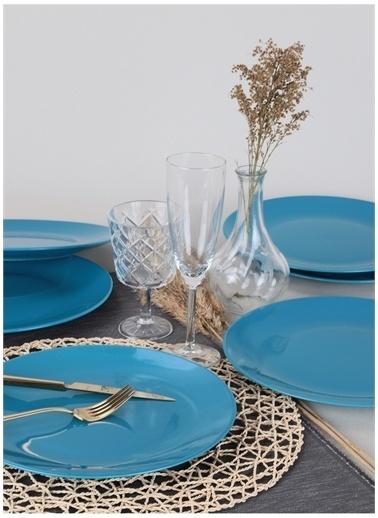 Keramika Servis Tabağı Mavi